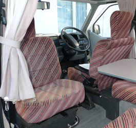 VW T4 Holdsworth Vista Front Seats Pink Stripe Fabric